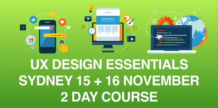 UX DESIGN ESSENTIALS BOOTCAMP – SYDNEY