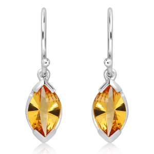 Special faceted Citrine Earrings