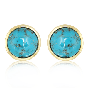 Arizona Turquoise Studs in Gold