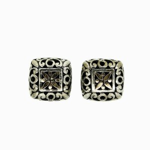 Sterling Silver Studs with 18 Ct Solid Gold Details