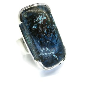 Handmade Sterling Silver Ring with Chrysocolla Stone