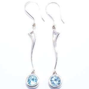 Blue Topaz Silver Earrings