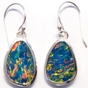 Australian Opals Handmade Silver Earrings