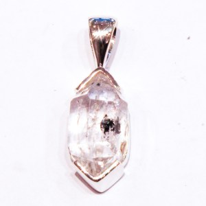 Herkimer Diamond in Contemporary Silver Pendant
