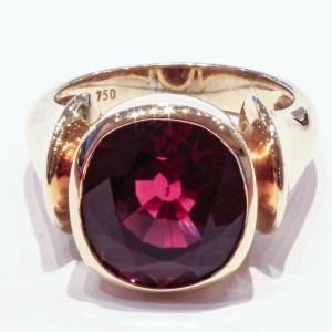 Pink Tourmaline in 18 Ct Gold Ring