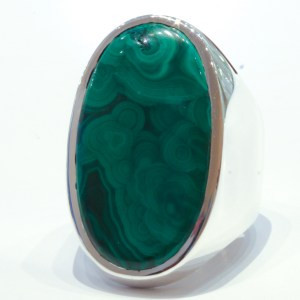 Malachite in Handmade Silver Ring