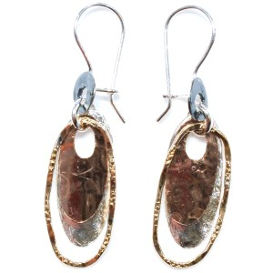 Rose Gold and Silver Handmade Earrings