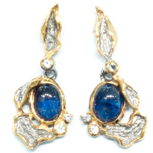 Blue Sapphire and Blue Topaz Earrings