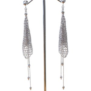 Sophisticated Mesh Silver Earrings