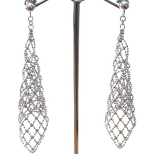 Effective Mesh Silver Earrings