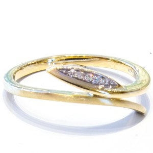 German Diamond Ring in Yellow Gold