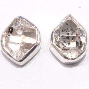 Herkimer Diamonds Handmade Studs in Silver