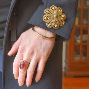 Brooch on your sleeve