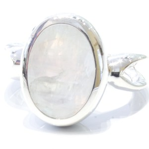 Rainbow Moonstone Handmade Silver Ring