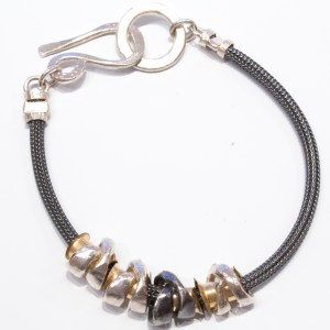 Silver and Gold Bracelet from Israel
