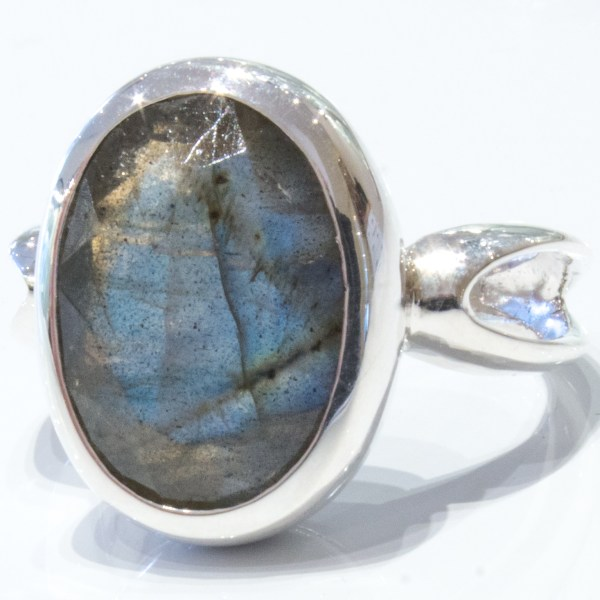 Faceted Labradorite Handmade Ring