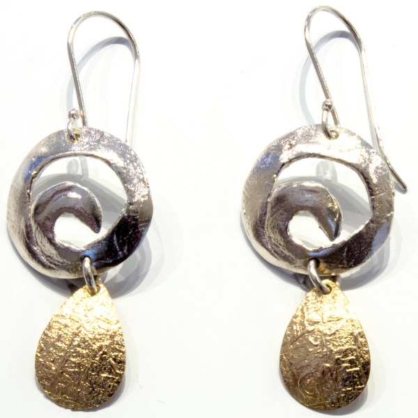 Contemporary Gold And silver Earrings