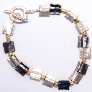 Silver and Gold Israeli Made Bracelet
