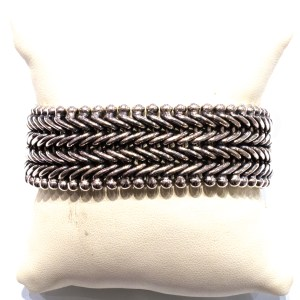 Wide and Bold Sterling Silver Bracelet