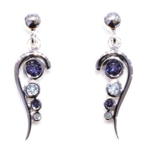 Blue Topaz and Iolite Earrings