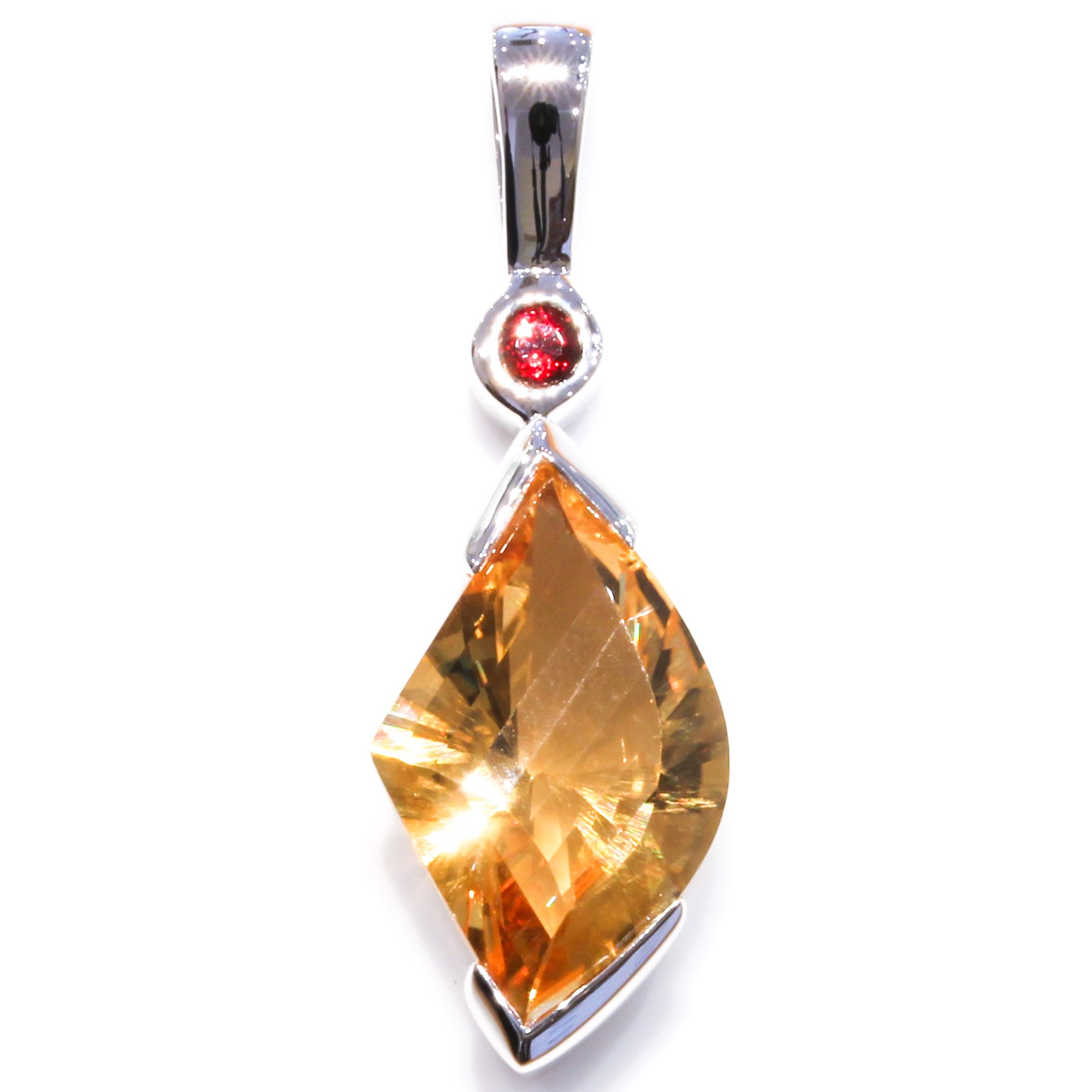Garnet and Citrine Handmade Pendant