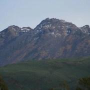 鳥海山の山頂:鳥海山の中腹より - 2006年10月