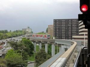 モノレールで万博記念公園駅へ:万博記念公園で太陽の塔を見る