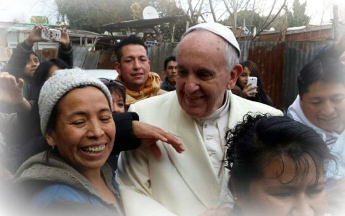 Resultado de imagen de Papa Francisco y pobres