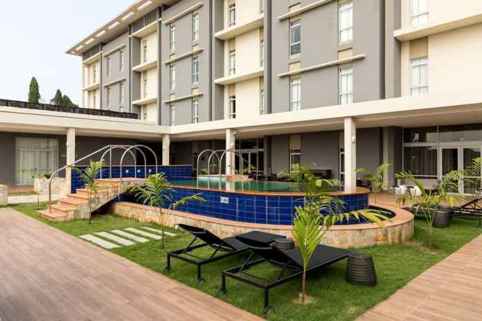 Pool side of Protea hotel owerri