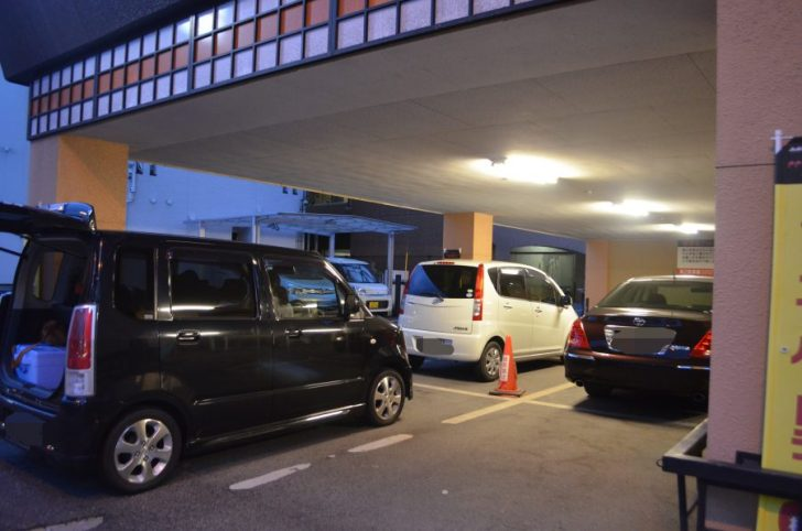 高麗苑の駐車場