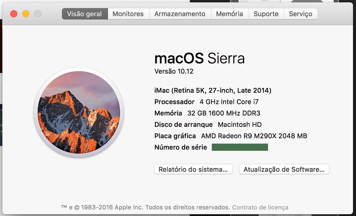 E vamos ver o que há de novo no macOS Sierra