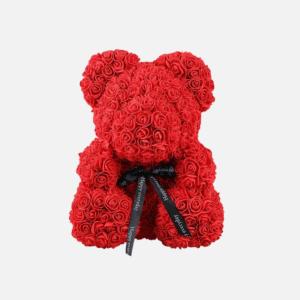 Lovely Red Foam Rose Teddy