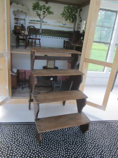 Lovely library steps from NH! Now I'll be able to reach the bedroom and attic of the doll's house in style!