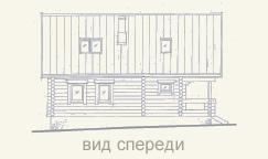 вид дома из сруба справа