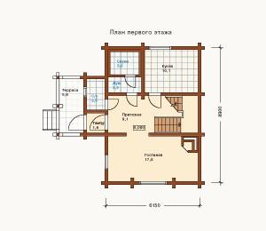 1 этаж дома из сруба