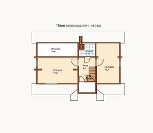 план 2 этажа дома из сруба