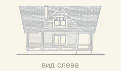вид слева дома из бруса