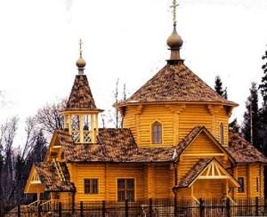 деревянный храм