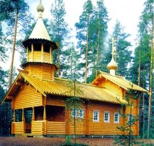 бревенчатая церковь киев