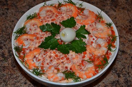 Фото: салат жемчужина моря