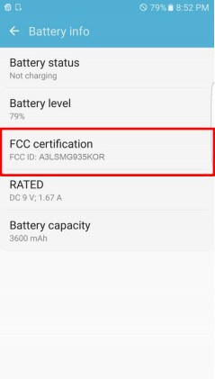 Samsung S7 FCC