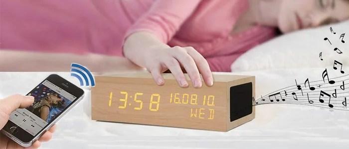 iitrust】目覚まし時計 スピーカ付き