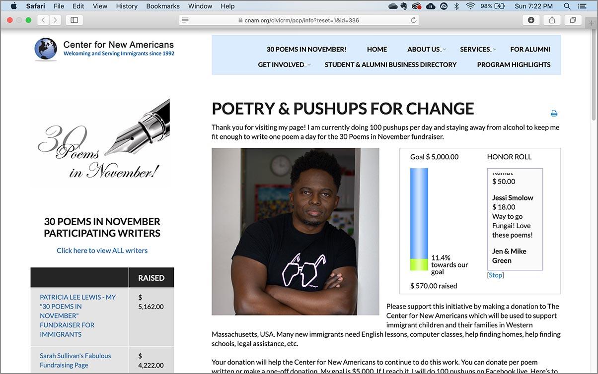 30 poems in November