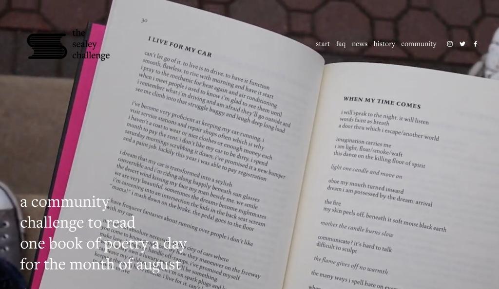The Sealey Challenge website screenshot