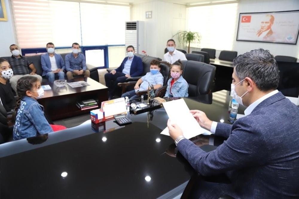 Başkan Kayalar, çocukların isteğini geri çevirmedi