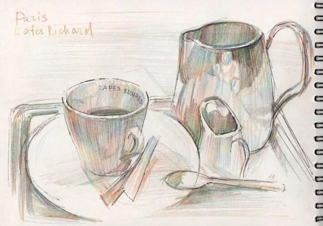 зарисовки в кафе