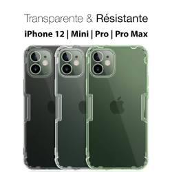 Coque iPhone 12 transparente et résistante Crytal Clear
