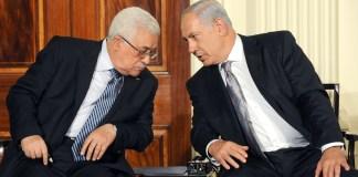 Benjamin Netanjahu miniszterelnök és a Palesztin Hatóság elnöke, Mahmúd Abbász (Abu Mazen) Washintonban, 2010 - fotó: GPO