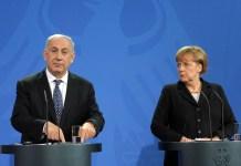 Benjamin Netanjahu és Angela Merkel Berlinben, 2012 - fotó: GPO