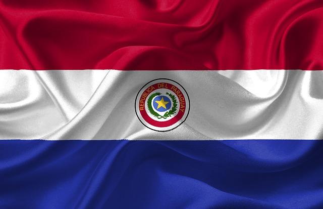 Paraguay nemzeti zászlaja - fotó: maxpixel.net
